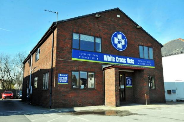 The White Cross vets building at Guiseley