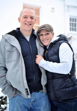 Otley-born rugby player Mike Tindall with his wife, Zara Phillips