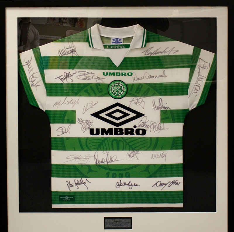 This signed Celtic shirt is being auctioned