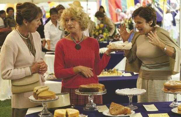 Penelope Wilton, Helen Mirren and Julie Walters in the 2003 Calendar Girls movie, which was largely filmed in the Bradford district