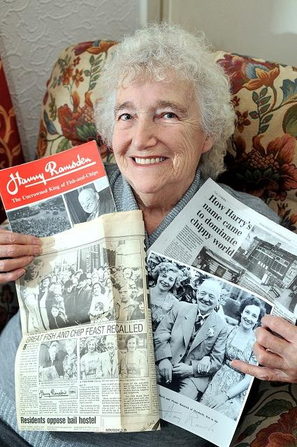 Mavis Broadbent with her memories of the world-famous fish and chip shop Harry Ramsden's