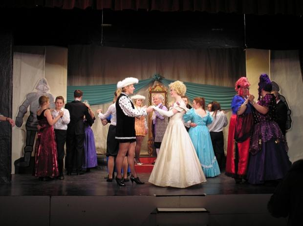 Menston Thespians in full dress rehearsal for Cinderella