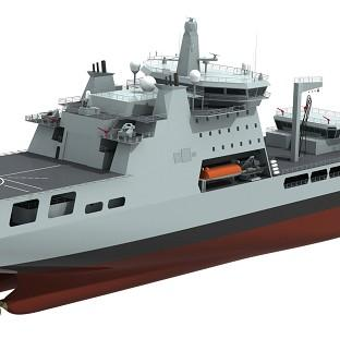 Computer generated image of the Royal Navy's new Militar