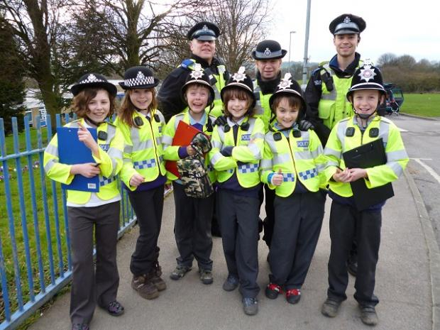 "The PCSOs and young ""cops"" from Newlaithes Primary School who targeted those parking inconsiderately"