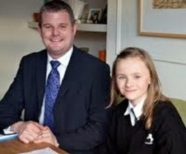 Gracie with MP Stuart Andrew who has helped the schoolgirl prepare for the event at Westminster
