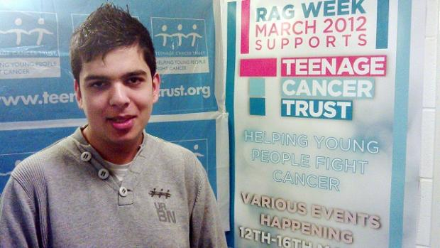 Rajan Chavda, who has chronic myeloid leukaemia, has been fundraising for the Teenage Cancer Trust