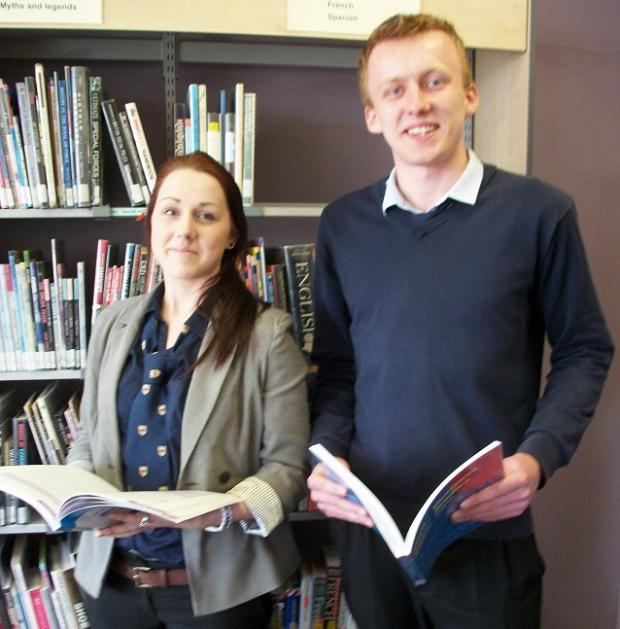 Accountancy students Jemma Hampshaw and Adam Fryer