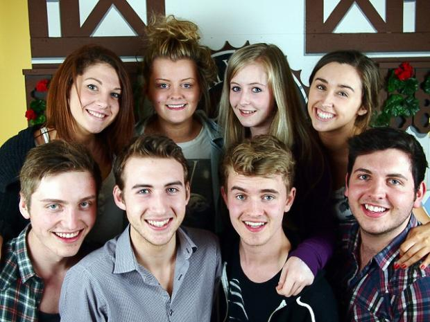 The cast of Ilkley Upstagers' production of Summer Holiday