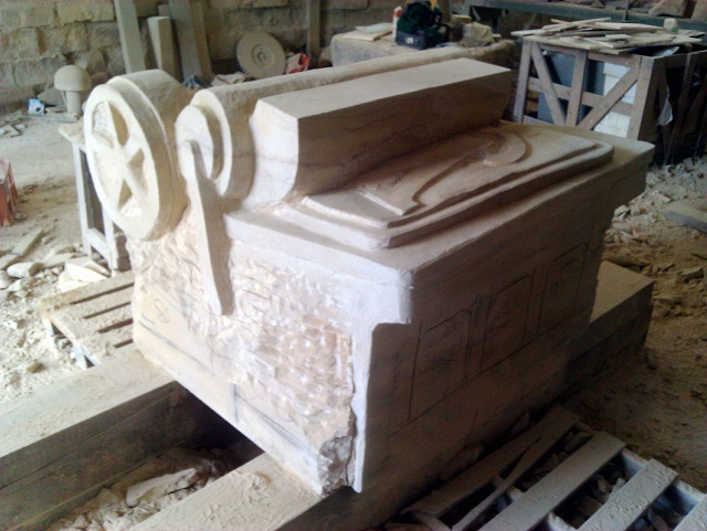A sculpture of Wharfedale Printing Press for Otley's Jubilee celebrations