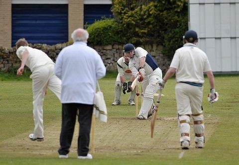 Menston batsman Adam Campion clips a ball into the legside during his team's emphatic 162-run  win over Horsforth