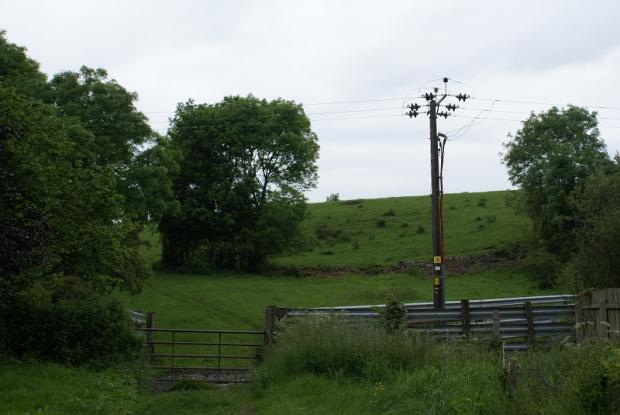 The site of the proposed housing development