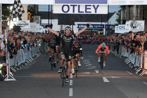 Burley-in-Wharfedale's Scott Thwaites wins last year's race. Picture: Andrew Kennedy