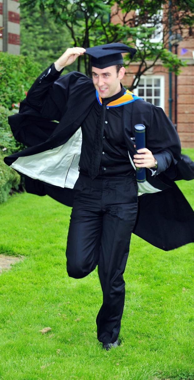 Harry Potter actor Matthew Lewis celebrates his honorary degree from Leeds Metropolitan University