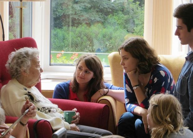 Ilkley Grammar School sixth formers hosted a jubilee party for residents at Glen Rose Nursing Home, Ilkley, in their last week of term