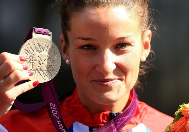 Otley cyclist Lizzie Armitstead proudly displays the super silver medal she won in Sunday's thrilling road race