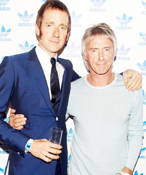 Bradley Wiggins meets his hero, musician Paul Weller