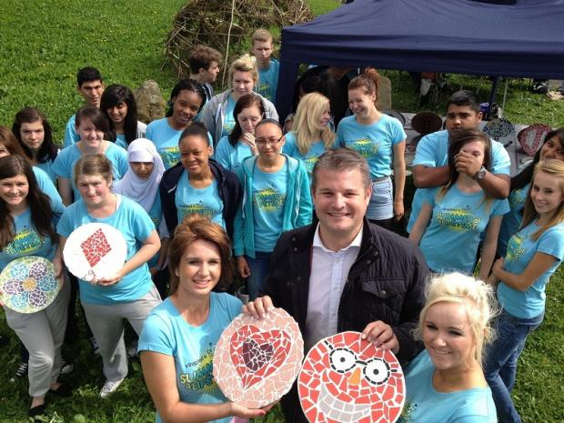 Stuart Andrew MP with young people who took part in the National Citizen Service programme