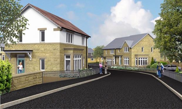 An artist's impression of how the new housing development in Ilkley will look when completed in spring 2013