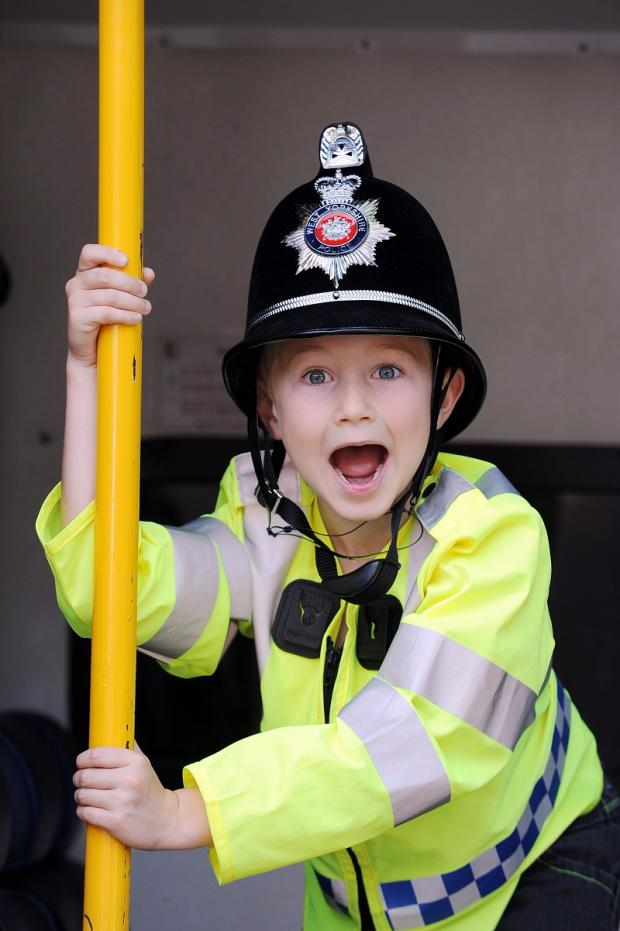 Hats off to seven-year-old Harry Jeffrey