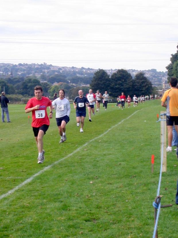 Horsforth's 10K road race finishes at Woodhouse Grove playing fields