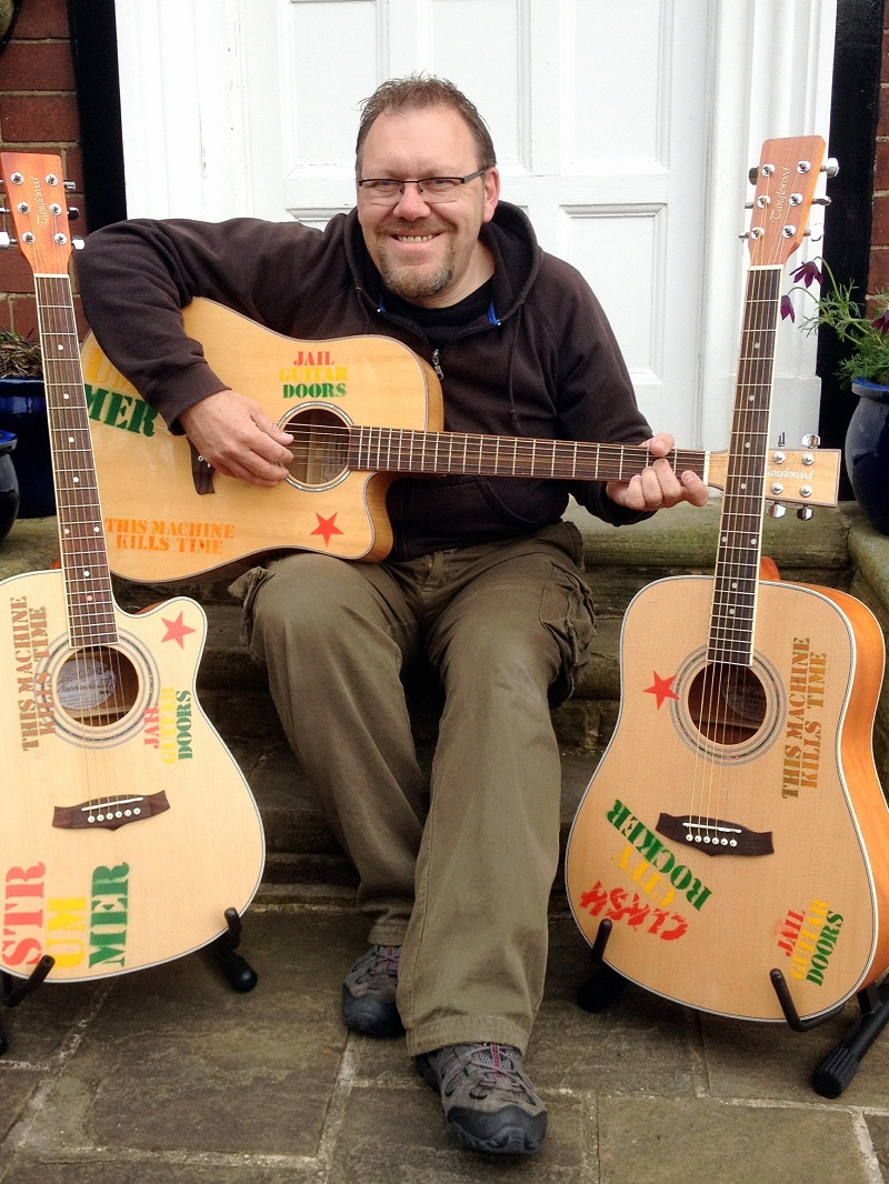 Folk singer Gary Kaye has recorded tracks in support of unions