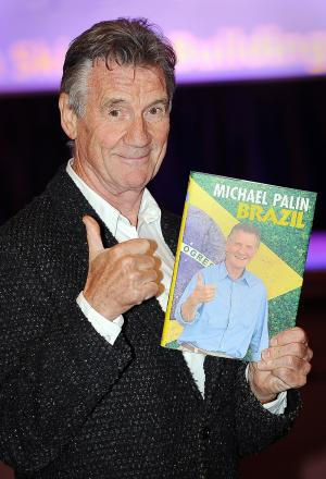 Michael Palin with his new book ahead of his appearance at the Ilkley Literature Festival this week