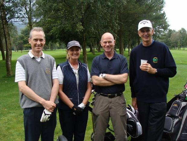 Duchy Originals, the winning team at the Acorn Charity golf day, are (from left) Callum Johnston, Maria Dawson, Simon Foreman and Anthony Comerford