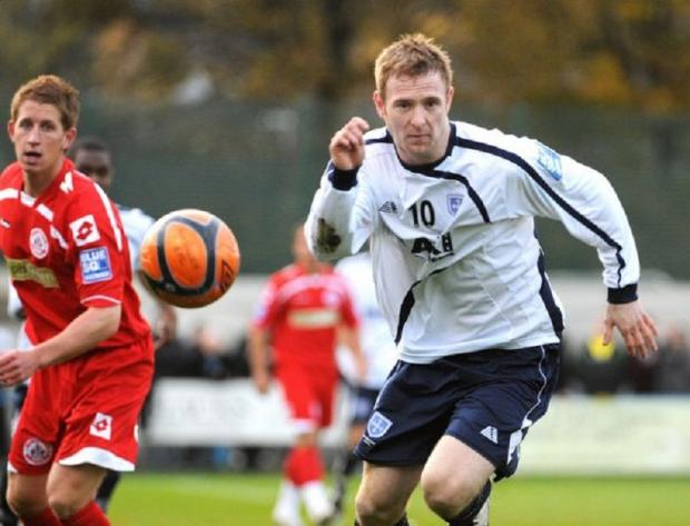 James Walshaw scored the last time Guiseley met Barrow