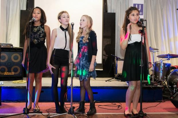 Girl band Sweet Charity (from left, Erin Chapman, Paige Tye, Millie Archer and Bethany Hare) take to the stage
