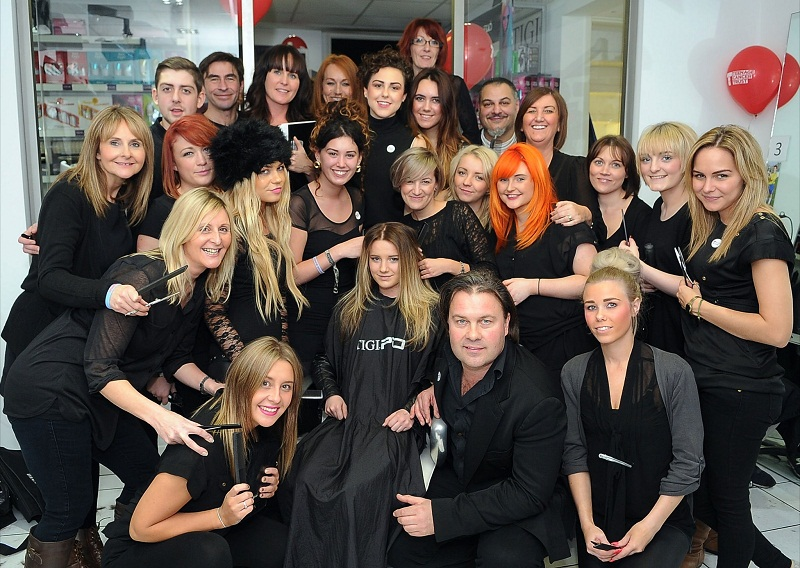 Staff at Yazz hair salon get their scissors out to raise money for charity