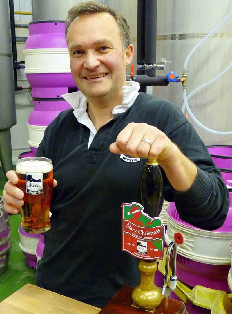 Ilkley Brewery director Chris Ives puts Mary Christmas to the taste test