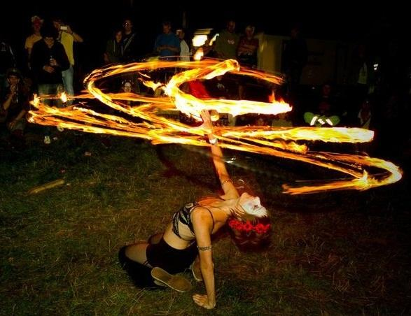 Fire twirling from skilled performers will be one of the highlights at the fair