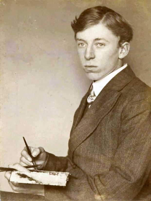 John Cooper as an art student around 1911