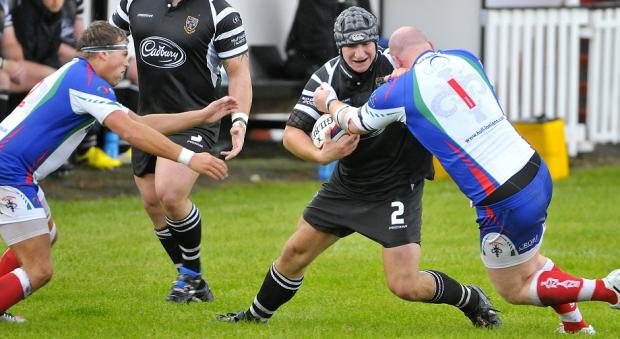 Hooker Ben Steele scored a rare try for Otley