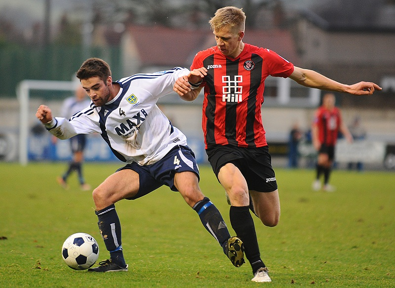 Guiseley's Jack Rea in action during their 2-1 home victory over Histon last weekend