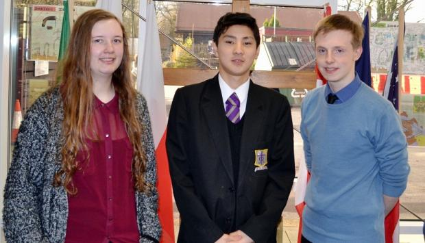 Wharfedale Observer: Successful young musicians Elizabeth Rogozinski, Mingzhe Feng and Matthew Spalding