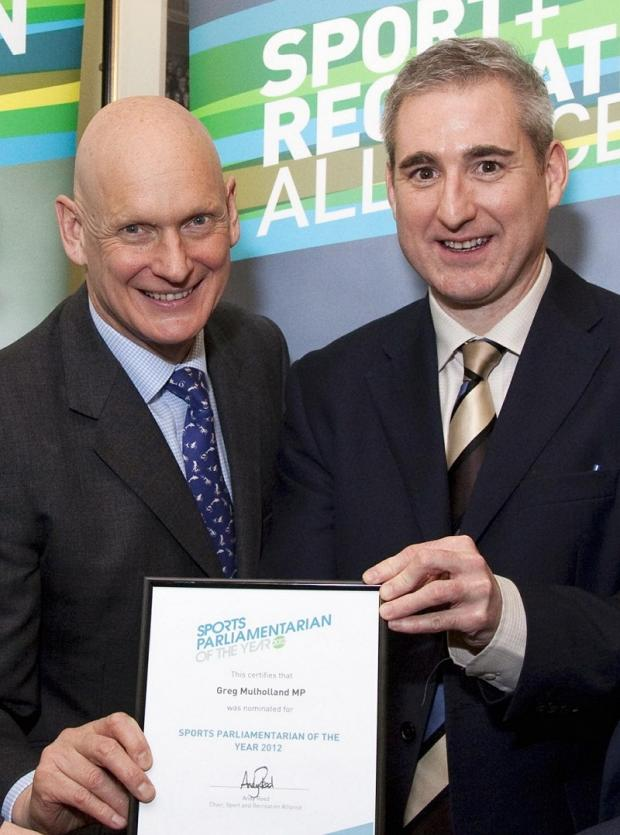 Judge Duncan Goodhew MBE with MP Greg Mulholland