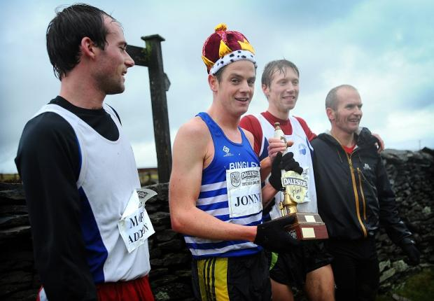 A victorious Jonny Brownlee with the leading finishers