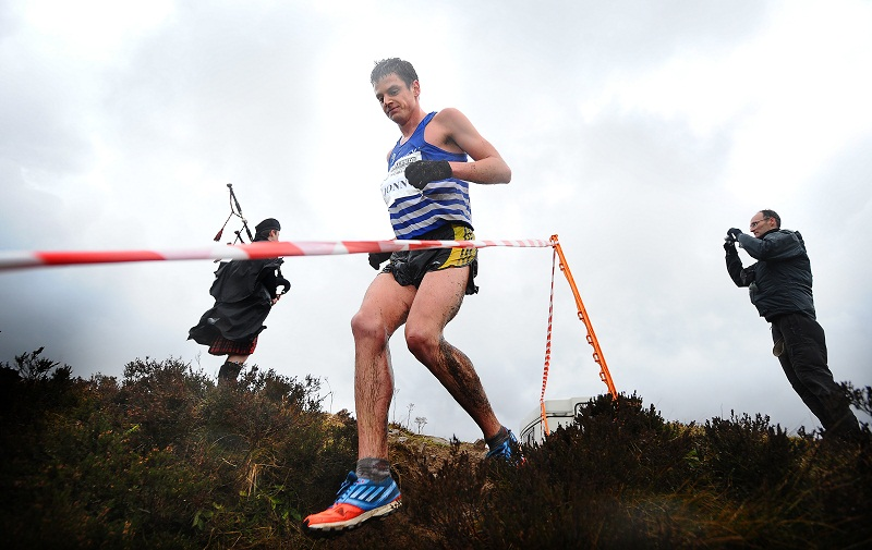 Jonny Brownlee had to settle for third place in the Yorkshire Cross-Country Championships