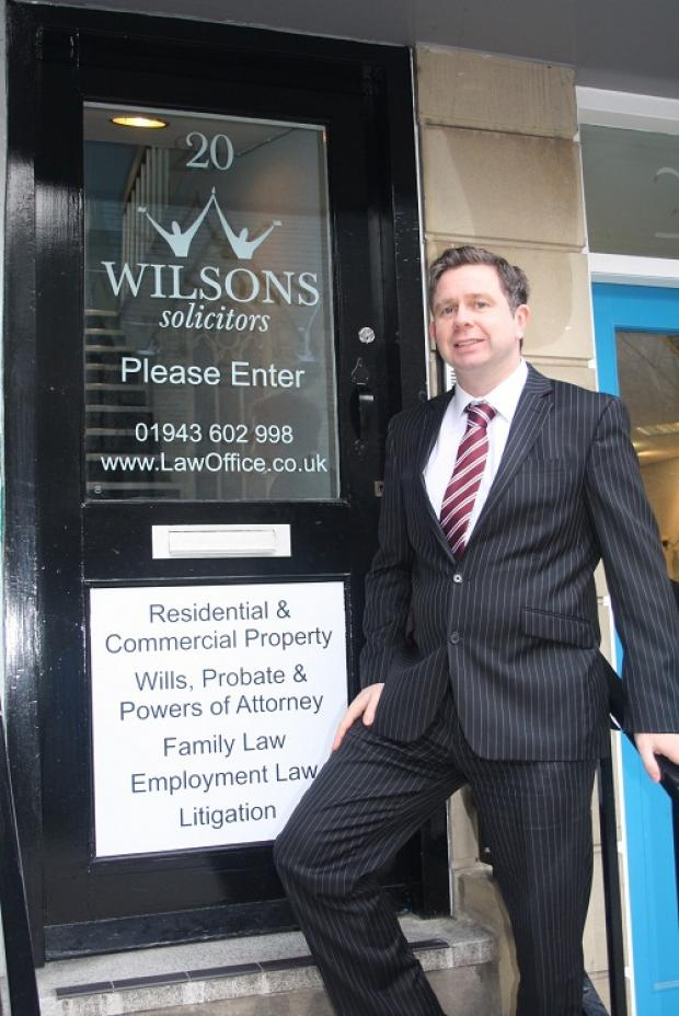Steven Murgatroyd who will head the new Wilsons Solicitors office in Ilkley