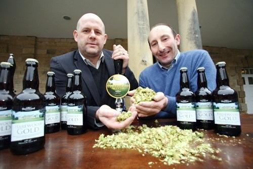 Wharfedale Observer: Martin Kellaway, Managing Director of Wharfebank Brewery, and Trevor Nicholson, head gardener of Harewood House