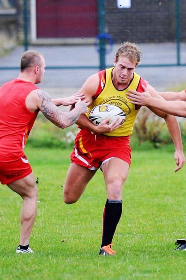Alex Ball training with the Bradford Bulls