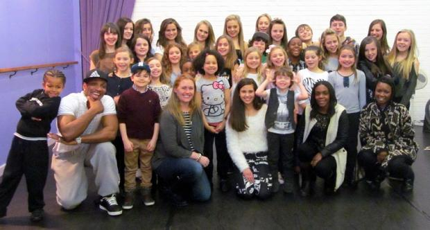 The Scala Kids who will feature in Bethany Hare's fashion show, pictured with the judges