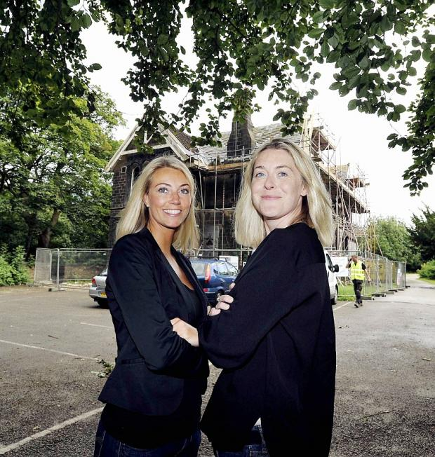 Louise Robinson and Jenny Elstub outside Nunroyd House