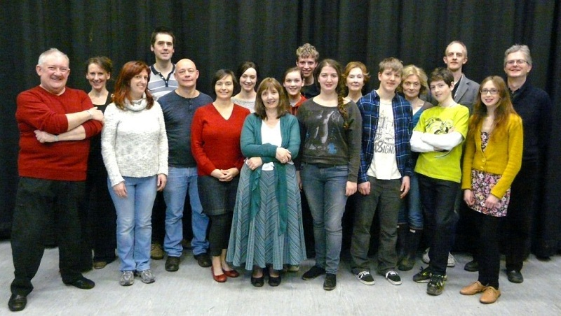 The cast of Blood Wedding which is on stage at Ilkley Playhouse