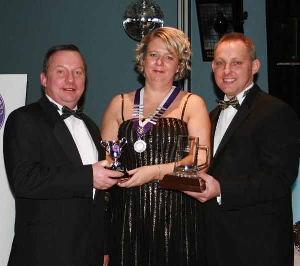 From left, Henry Carr (Spirit of the Club Award) Karen Humphries and Leon Humphries