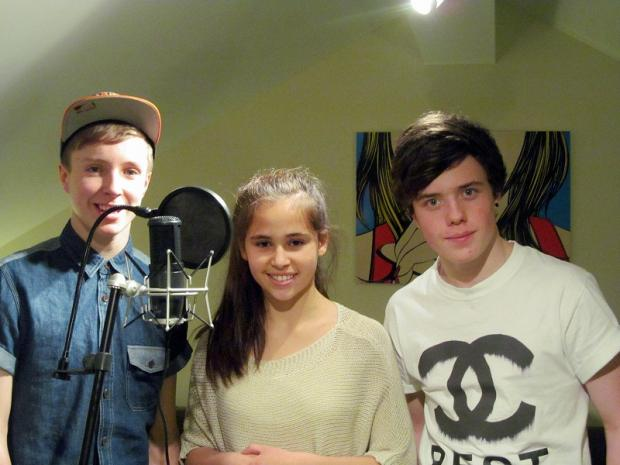 Bethany with fellow members of B-Cubed, Billy, left, and Bradley