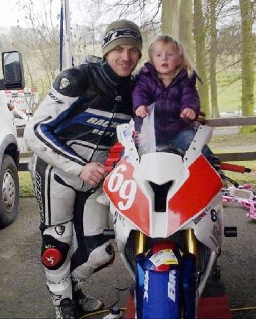 Jonas Barber with his young daughter Freya about six weeks before the accident