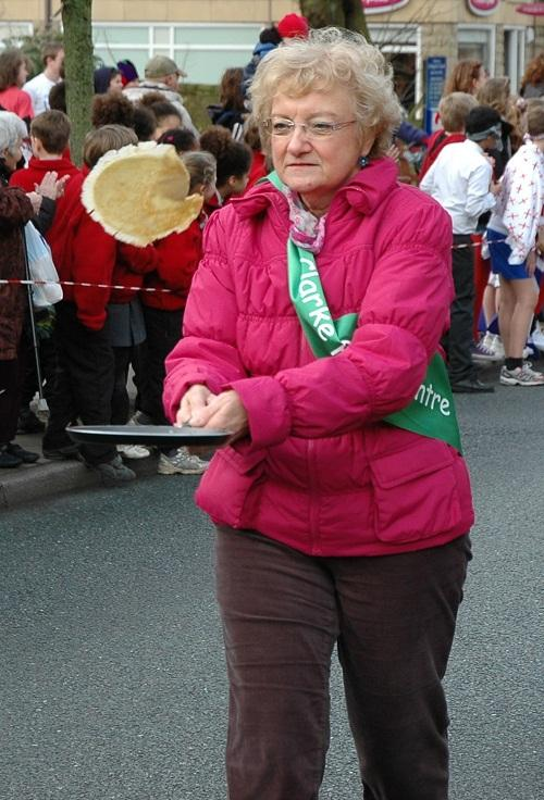 Competitors taking part in last year's Ilkley Pancake Race