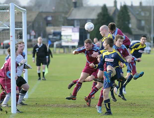 Phil Thommesen heads home the opening goal